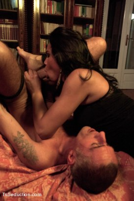 Photo number 13 from 19yr old Flawlessly Beautiful Transsexual Dom in Part 2 of the League shot for tsseduction on Kink.com. Featuring Nauana Lima and Raul Montana in hardcore BDSM & Fetish porn.