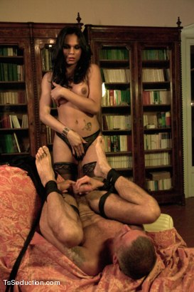 Photo number 5 from 19yr old Flawlessly Beautiful Transsexual Dom in Part 2 of the League shot for tsseduction on Kink.com. Featuring Nauana Lima and Raul Montana in hardcore BDSM & Fetish porn.