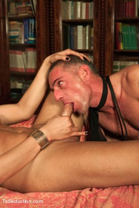 Photo number 9 from 19yr old Flawlessly Beautiful Transsexual Dom in Part 2 of the League shot for tsseduction on Kink.com. Featuring Nauana Lima and Raul Montana in hardcore BDSM & Fetish porn.
