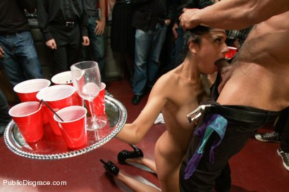 Photo number 3 from Party Girl shot for Public Disgrace on Kink.com. Featuring Beretta James and Karlo Karrera in hardcore BDSM & Fetish porn.
