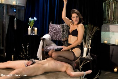 Photo number 5 from Danny Wylde gets his prostate milked by Bobbi Starr! shot for Divine Bitches on Kink.com. Featuring Danny Wylde and Bobbi Starr in hardcore BDSM & Fetish porn.