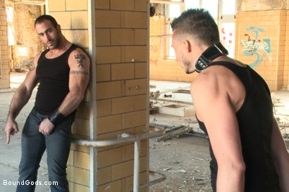 Photo number 2 from  Fleischfabrik Berlin - Part One with Spencer Reed shot for Bound Gods on Kink.com. Featuring Spencer Reed and Sam Barclay in hardcore BDSM & Fetish porn.