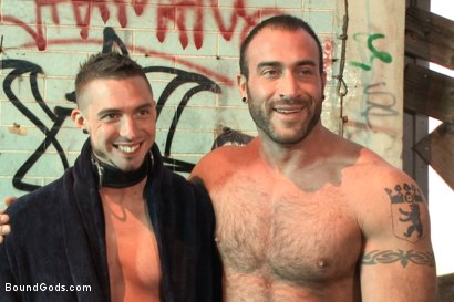 Photo number 15 from  Fleischfabrik Berlin - Part One with Spencer Reed shot for Bound Gods on Kink.com. Featuring Spencer Reed and Sam Barclay in hardcore BDSM & Fetish porn.
