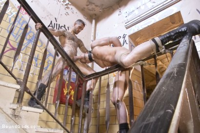 Photo number 14 from Fleischfabrik Berlin - Part Two with Logan McCree  shot for Bound Gods on Kink.com. Featuring Logan McCree and Sam Barclay in hardcore BDSM & Fetish porn.