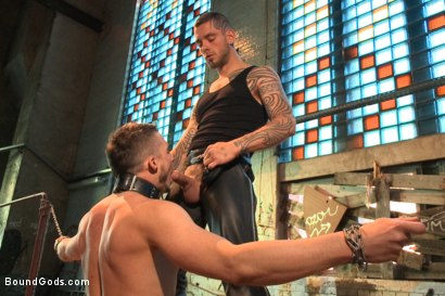 Photo number 4 from Fleischfabrik Berlin - Part Two with Logan McCree  shot for Bound Gods on Kink.com. Featuring Logan McCree and Sam Barclay in hardcore BDSM & Fetish porn.