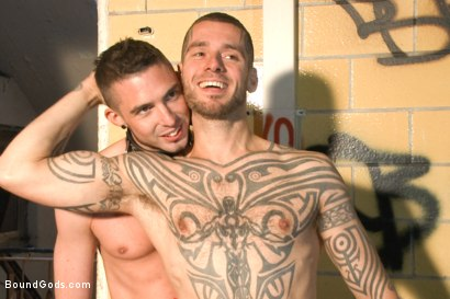 Photo number 15 from Fleischfabrik Berlin - Part Two with Logan McCree  shot for Bound Gods on Kink.com. Featuring Logan McCree and Sam Barclay in hardcore BDSM & Fetish porn.