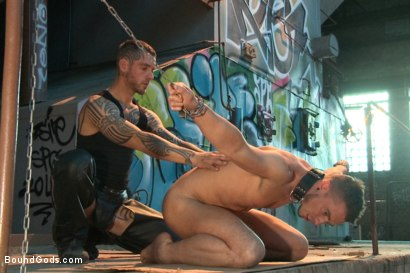 Photo number 3 from Fleischfabrik Berlin - Part Two with Logan McCree  shot for Bound Gods on Kink.com. Featuring Logan McCree and Sam Barclay in hardcore BDSM & Fetish porn.