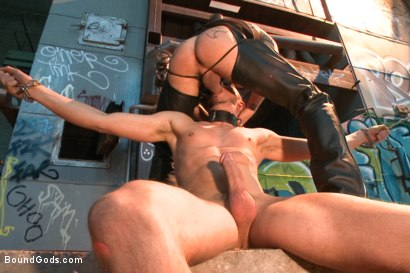 Photo number 7 from Fleischfabrik Berlin - Part Two with Logan McCree  shot for Bound Gods on Kink.com. Featuring Logan McCree and Sam Barclay in hardcore BDSM & Fetish porn.