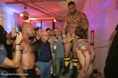 Photo number 1 from HustlaBall Berlin 2012 - Ich bin eine Deutsche Schlampe shot for Bound in Public on Kink.com. Featuring Spencer Reed, Sebastian Keys, Chad Brock and Van Darkholme in hardcore BDSM & Fetish porn.
