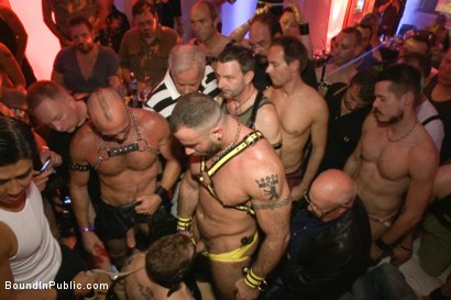 Photo number 3 from HustlaBall Berlin 2012 - Ich bin eine Deutsche Schlampe shot for Bound in Public on Kink.com. Featuring Spencer Reed, Sebastian Keys, Chad Brock and Van Darkholme in hardcore BDSM & Fetish porn.