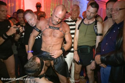 Photo number 4 from HustlaBall Berlin 2012 - Ich bin eine Deutsche Schlampe shot for Bound in Public on Kink.com. Featuring Spencer Reed, Sebastian Keys, Chad Brock and Van Darkholme in hardcore BDSM & Fetish porn.