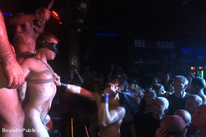 Photo number 1 from The Big Stage Performance at Hustla Ball Berlin 10th Year Anniversary shot for Bound in Public on Kink.com. Featuring Spencer Reed, Sebastian Keys, Chad Brock and Van Darkholme in hardcore BDSM & Fetish porn.