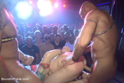 Photo number 14 from The Big Stage Performance at Hustla Ball Berlin 10th Year Anniversary shot for Bound in Public on Kink.com. Featuring Spencer Reed, Sebastian Keys, Chad Brock and Van Darkholme in hardcore BDSM & Fetish porn.