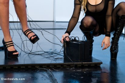Photo number 4 from All Natural Cutie Pie, Roxy Raye, feels Electrosex for the VERY 1st Time! shot for Electro Sluts on Kink.com. Featuring Aiden Starr and Roxy Raye in hardcore BDSM & Fetish porn.