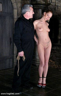 Photo number 1 from Lew Rubens and Livia Choice shot for Hogtied on Kink.com. Featuring Livia Choice and Lew Rubens in hardcore BDSM & Fetish porn.