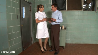 Photo number 2 from Bad Doctor! shot for Captive Male on Kink.com. Featuring Nika Noire and Wild Bill in hardcore BDSM & Fetish porn.
