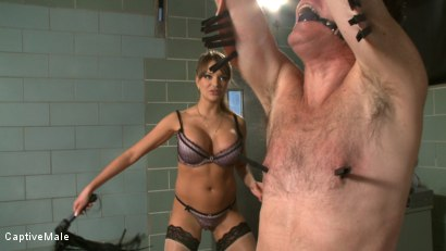 Photo number 3 from Bad Doctor! shot for Captive Male on Kink.com. Featuring Nika Noire and Wild Bill in hardcore BDSM & Fetish porn.