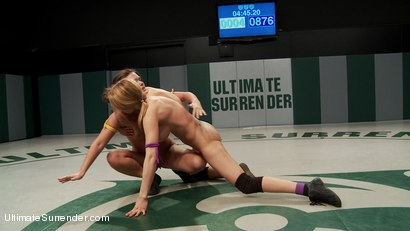 """Photo number 11 from Rain """"Poison"""" Degrey vs Abbey """"The Boss Cross"""" - Lightweight match up shot for Ultimate Surrender on Kink.com. Featuring Rain DeGrey and Abby Cross in hardcore BDSM & Fetish porn."""