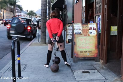 Photo number 3 from Girl Next Store Shocked and Bound in Public, Ass Fucked, Humiliated shot for Public Disgrace on Kink.com. Featuring Jodi Taylor and Astral Dust in hardcore BDSM & Fetish porn.