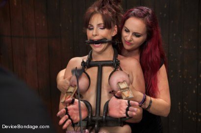 Photo number 8 from Marco Polo - Bella Rossi - Complete Edited Live Show shot for Device Bondage on Kink.com. Featuring Bella Rossi, Selena Kyle and Mz Berlin in hardcore BDSM & Fetish porn.