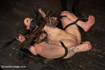 Photo number 10 from Marco Polo - Bella Rossi - Complete Edited Live Show shot for Device Bondage on Kink.com. Featuring Bella Rossi, Selena Kyle and Mz Berlin in hardcore BDSM & Fetish porn.