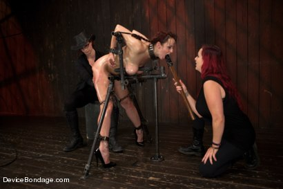 Photo number 15 from Marco Polo - Bella Rossi - Complete Edited Live Show shot for Device Bondage on Kink.com. Featuring Bella Rossi, Selena Kyle and Mz Berlin in hardcore BDSM & Fetish porn.