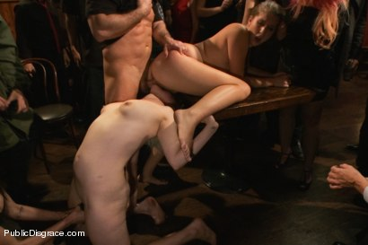Photo number 8 from Giant Tits Tied in the Armory shot for Public Disgrace on Kink.com. Featuring John Strong and Alex Chance in hardcore BDSM & Fetish porn.