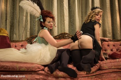 Photo number 12 from Let Them Eat Feet! shot for Foot Worship on Kink.com. Featuring Penny Pax and Maitresse Madeline Marlowe in hardcore BDSM & Fetish porn.
