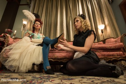 Photo number 1 from Let Them Eat Feet! shot for Foot Worship on Kink.com. Featuring Penny Pax and Maitresse Madeline Marlowe in hardcore BDSM & Fetish porn.