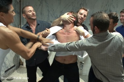 Photo number 1 from The Victim Game - BIP doms turn on one of their own shot for Bound in Public on Kink.com. Featuring Will Jasper, Brenn Wyson, John Jammen and Master Avery in hardcore BDSM & Fetish porn.