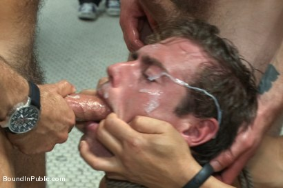 Photo number 14 from The Victim Game - BIP doms turn on one of their own shot for Bound in Public on Kink.com. Featuring Will Jasper, Brenn Wyson, John Jammen and Master Avery in hardcore BDSM & Fetish porn.