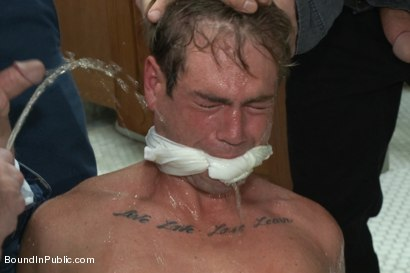 Photo number 4 from The Victim Game - BIP doms turn on one of their own shot for Bound in Public on Kink.com. Featuring Will Jasper, Brenn Wyson, John Jammen and Master Avery in hardcore BDSM & Fetish porn.
