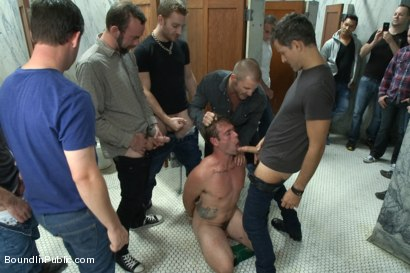 Photo number 3 from The Victim Game - BIP doms turn on one of their own shot for Bound in Public on Kink.com. Featuring Will Jasper, Brenn Wyson, John Jammen and Master Avery in hardcore BDSM & Fetish porn.