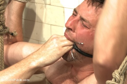 Photo number 14 from Doms turn on one of their own in the victim game - Part Two shot for Bound in Public on Kink.com. Featuring Will Jasper, Brenn Wyson, John Jammen and Master Avery in hardcore BDSM & Fetish porn.