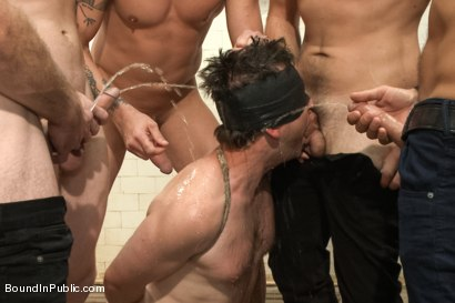 Photo number 3 from Doms turn on one of their own in the victim game - Part Two shot for Bound in Public on Kink.com. Featuring Will Jasper, Brenn Wyson, John Jammen and Master Avery in hardcore BDSM & Fetish porn.
