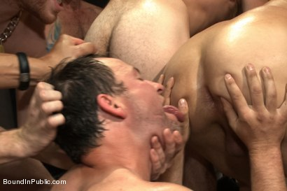 Photo number 7 from Doms turn on one of their own in the victim game - Part Two shot for Bound in Public on Kink.com. Featuring Will Jasper, Brenn Wyson, John Jammen and Master Avery in hardcore BDSM & Fetish porn.