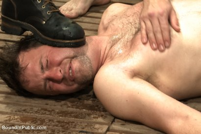 Photo number 8 from Doms turn on one of their own in the victim game - Part Two shot for Bound in Public on Kink.com. Featuring Will Jasper, Brenn Wyson, John Jammen and Master Avery in hardcore BDSM & Fetish porn.