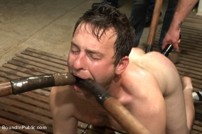 Photo number 9 from Doms turn on one of their own in the victim game - Part Two shot for Bound in Public on Kink.com. Featuring Will Jasper, Brenn Wyson, John Jammen and Master Avery in hardcore BDSM & Fetish porn.