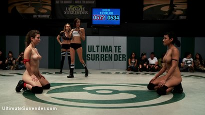 Photo number 5 from Round 3 TIT n' SLAM!!! Team Black, Beretta James and Iona Grace, VS. Team Red, Serena Blair and Bell shot for Ultimate Surrender on Kink.com. Featuring Bella Wilde, Iona Grace, Beretta James and Serena Blair in hardcore BDSM & Fetish porn.