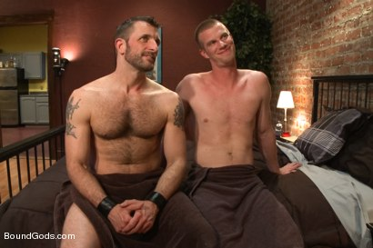 Photo number 15 from Bondage House Call shot for Bound Gods on Kink.com. Featuring Morgan Black and Blake Daniels in hardcore BDSM & Fetish porn.
