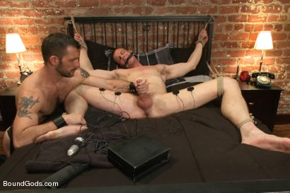 Photo number 10 from Bondage House Call shot for Bound Gods on Kink.com. Featuring Morgan Black and Blake Daniels in hardcore BDSM & Fetish porn.