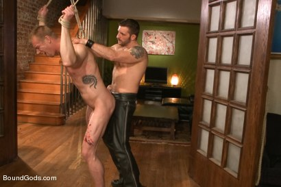Photo number 9 from Bondage House Call shot for Bound Gods on Kink.com. Featuring Morgan Black and Blake Daniels in hardcore BDSM & Fetish porn.