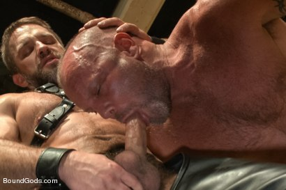 Photo number 4 from Caged and fucked like an animal shot for Bound Gods on Kink.com. Featuring Dirk Caber and Chad Brock in hardcore BDSM & Fetish porn.