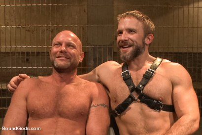 Photo number 15 from Caged and fucked like an animal shot for Bound Gods on Kink.com. Featuring Dirk Caber and Chad Brock in hardcore BDSM & Fetish porn.