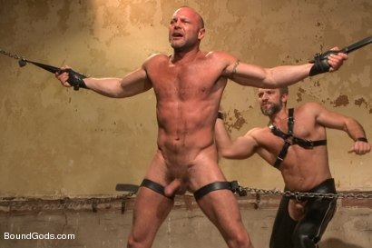 Photo number 8 from Caged and fucked like an animal shot for Bound Gods on Kink.com. Featuring Dirk Caber and Chad Brock in hardcore BDSM & Fetish porn.