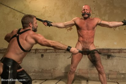Photo number 6 from Caged and fucked like an animal shot for Bound Gods on Kink.com. Featuring Dirk Caber and Chad Brock in hardcore BDSM & Fetish porn.