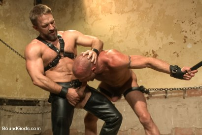 Photo number 3 from Caged and fucked like an animal shot for Bound Gods on Kink.com. Featuring Dirk Caber and Chad Brock in hardcore BDSM & Fetish porn.