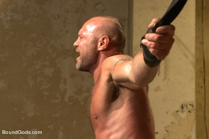 Photo number 7 from Caged and fucked like an animal shot for Bound Gods on Kink.com. Featuring Dirk Caber and Chad Brock in hardcore BDSM & Fetish porn.