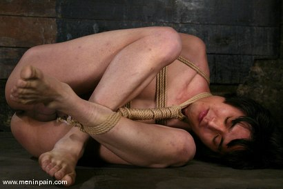 Photo number 8 from Men In Pain Bondage Tutorial<br><br>Part 3: JAPANESE ROPE HARNESS with CROSS LEGGED BONDAGE shot for Men In Pain on Kink.com. Featuring Scott Lee in hardcore BDSM & Fetish porn.