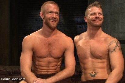 Photo number 15 from 50/50 shot for Bound Gods on Kink.com. Featuring Jeremy Stevens and Christopher Daniels in hardcore BDSM & Fetish porn.